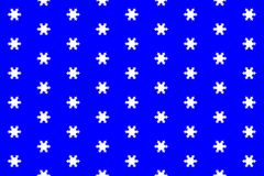 Texture from big white snowflakes. On the dark blue background vector illustration