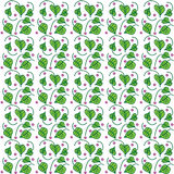 Texture of bindweed with flowers. Vector illustration of a seamless texture with a picture of a bindweed with cuttings of green and lilac flowers between them Stock Photos