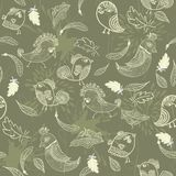 Texture with birds in vector Royalty Free Stock Photos