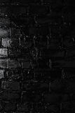 Texture of a black brick wall. Background of black brick texture wall Royalty Free Stock Images