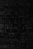 Texture of a black brick wall. Background of black brick texture wall Stock Image