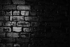 Texture of a black brick wall. Background of black brick texture wall Stock Images