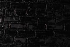 Texture of a black brick wall Stock Photos