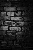 Texture of a black brick wall. Background of black brick texture wall Royalty Free Stock Photos