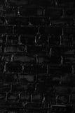 Texture of a black brick wall Royalty Free Stock Image