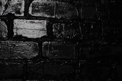 Texture of a black brick wall. Background of black brick texture wall Royalty Free Stock Image