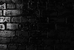 Texture of a black brick wall. Background of black brick texture wall Royalty Free Stock Photography