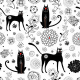 The texture of black cats Stock Images