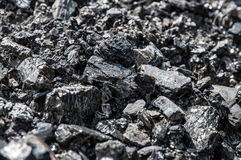 Texture of black coal. Black coal as a texture stock images