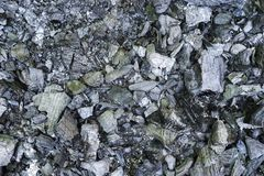Texture of the coal after the fire Royalty Free Stock Photography