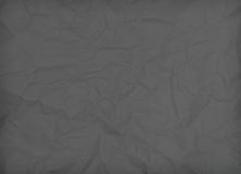 texture of black crumpled paper Stock Photography