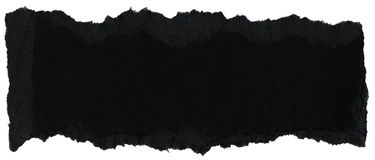 Fiber Paper Texture - Black with Torn Edges Royalty Free Stock Photography