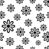 Texture with black flower Stock Photography