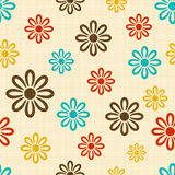 Texture with black flower Royalty Free Stock Image