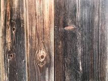 Texture of a black gray old wooden wall, charred from a fence of vertical old rambling boards of different sizes with cracks and k royalty free stock photo