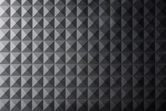 Texture black gray pyramid background Stock Photography