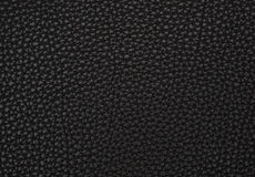 Texture of a black imitation leather Stock Images