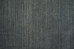 Texture of black jeans background Royalty Free Stock Image