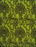 Texture Black Lace Pattern Green Background Stock Image