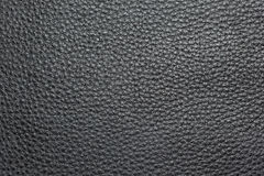 Texture of black leather. Stock Photography