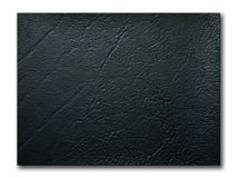 Texture of black leatherette sample. On white background and shadow Royalty Free Stock Photo