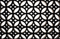 Texture black metal  patterned grille on a white wall Royalty Free Stock Photos
