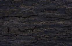 Texture of black rock Stock Photos