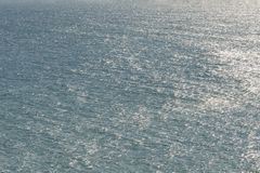 Texture of Black Sea. Blue frothy surface of sea water. Background shot of aqua sea aerial view. Marine concept stock photography