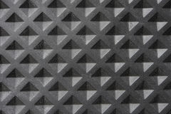Texture of Black Square tile rubber Stock Photography