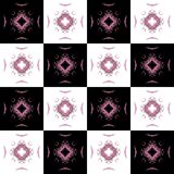 Texture with black white and pink cell fractal Royalty Free Stock Images