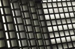 Texture of black and white squares Stock Photography