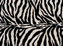 Texture of black and white zebra textile Royalty Free Stock Photos