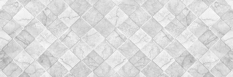 texture blanche élégante horizontale de carreau de céramique pour le modèle et le Ba Photographie stock libre de droits