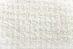 Texture blanche de boucle de laines Image libre de droits