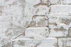 Texture blanche de fond de brique et de ciment Photos stock