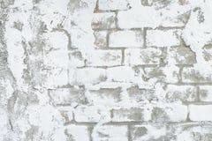 Texture blanche de fond de brique et de ciment Photo stock