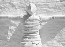 Texture blanche de mur Photographie stock libre de droits