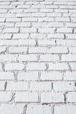 Texture blanche de mur de briques Photographie stock libre de droits