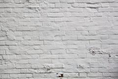 Texture blanche de mur de briques Images libres de droits