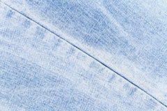 Texture bleu-clair de jeans Photographie stock libre de droits