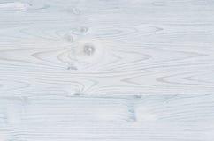 Texture bleu-clair en bois de vintage Vue supérieure, panneau en bois Image stock