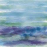 Texture bleu-foncé abstraite d'aquarelle Photo stock