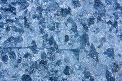 Texture bleue chinée par résumé en métal Image stock