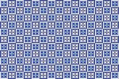 Texture bleue d'azulejo de mosaïque à Lisbonne Photos stock