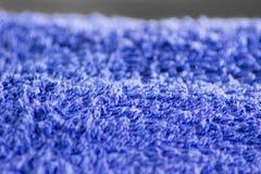 Texture bleue d'essuie-main Image stock
