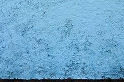 Texture bleue de fond de peinture d'épluchage Photo libre de droits