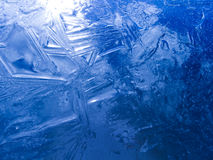 Texture bleue de glace Image libre de droits