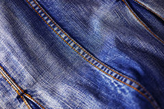 Texture bleue de jeans de denim Photographie stock