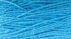Texture bleue de laines image stock