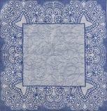 Texture bleue de nappe avec le modèle Photos stock